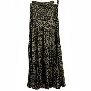 Zara High Waisted Cheetah Print Maxi Skirt